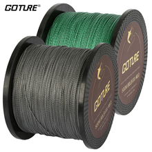 Goture 500M 4 Strand PE Braided Fishing Line Super Strong Japan Multifilament Line Jig Carp Fish Lines Wire