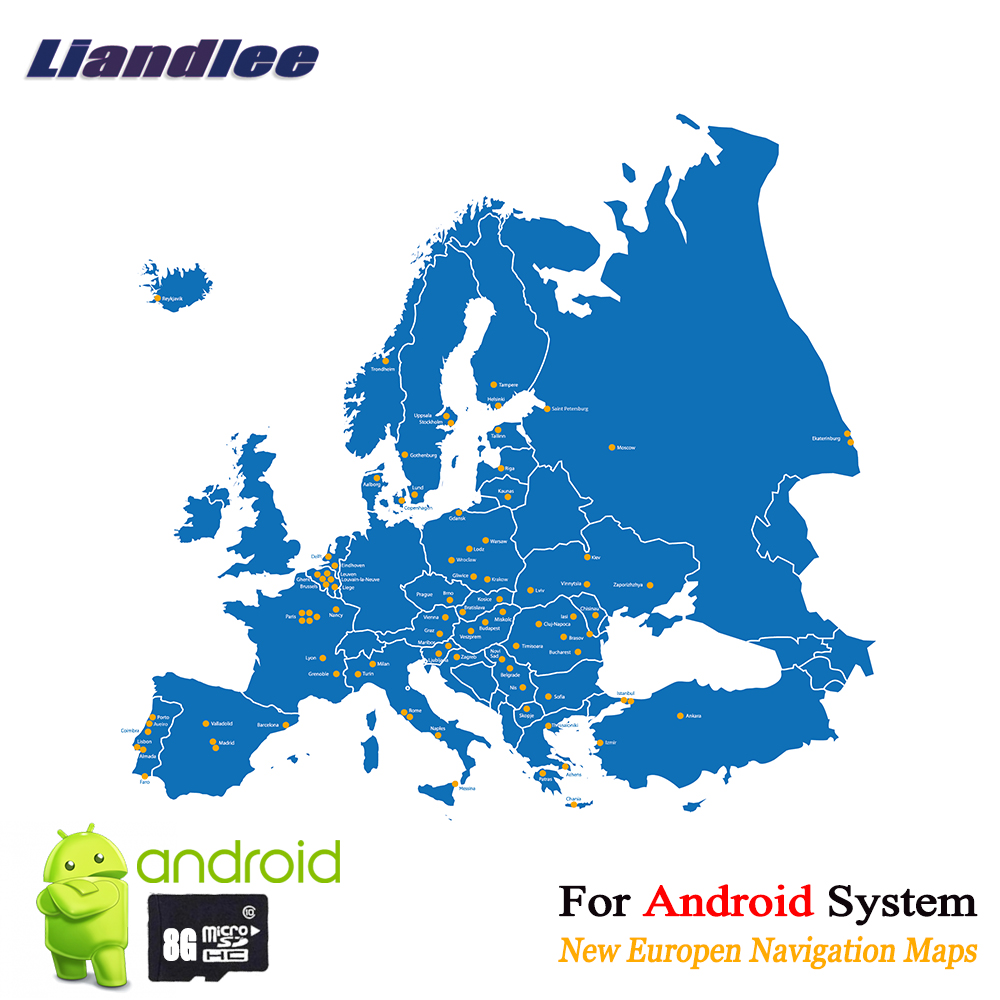 Map Of Germany France And Spain.Us 15 99 Liandlee 8gb Sd Card Gps Navigation Maps Card Android For Europe Ireland Nederland Belgium France Germany Uk Italy Spain Poland In Car