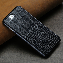 LANGSIDI Etui For iphone 7 Luxury Genuine leather back covers for iphone X XS case Crocodile Grain coque for iphone 7 8plus цена