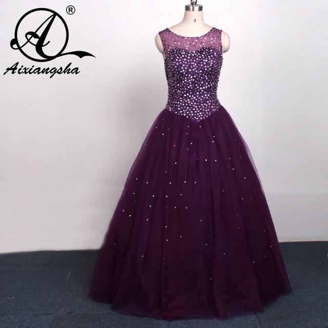 0deb30a203b 2018 Tiffany Purple Quinceanera Dresses Scoop Neck Beaded Ball Gown  Quinceanera Gowns Formal Dress Vestidos de 15 anos