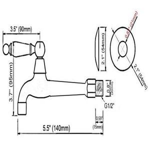 Image 2 - רטרו עתיק פליז ידית אחת מטבח ברז קיר רכוב אמבטיה מכבסה Mop מים ברז גן מכונת כביסה ברז aav313