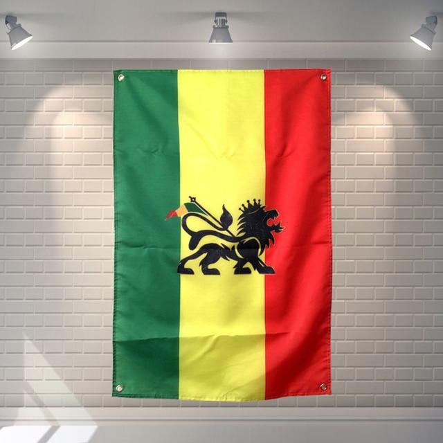 Jamaica Reggae Heavy Metal Music Cloth Flag Banners Bar Billiards ...