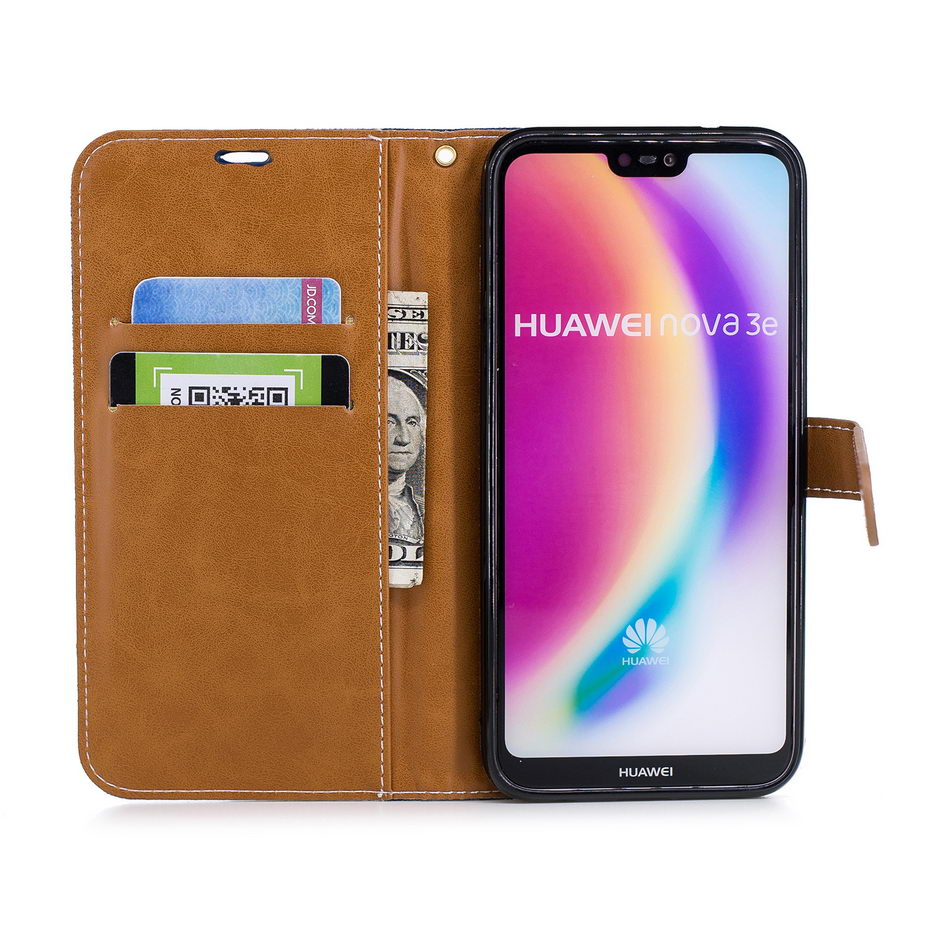 Case For Huawei P20 / P20 Lite Leather Flip Wallet Case For Huawei P20 P 20 Lite Pro Nova 3E Case Painted Phone Cases