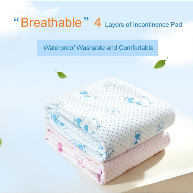 Reusable And Waterproof Bed Sheet Protector Breathable Adult Incontinence  Bed Pad Mattress Protector Incontinent Washable