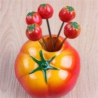 גאדג 'ט garfo בנטו מזלג פירות מזלג מבחר פירות עגבניות מזון קינוח פיקניק המפלגה מיני מזלגות ארוחת ערב סט נירוסטה מתנה יצירתית