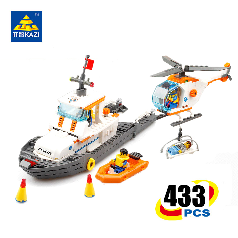 KAZI City Rescue Model Maritime Search and Rescue Bricks Brinquedos Educational Toys for Children 6+Ages 433pcs 85008 quantitative risk assessment for maritime safety management