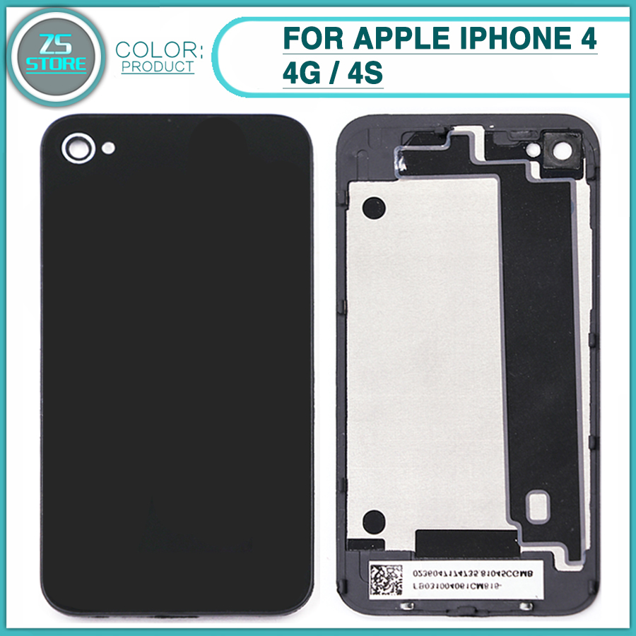 Rear-Housing-Case iPhone 4 Frame Battery Back-Cover Door-Glass New for 4G 4S