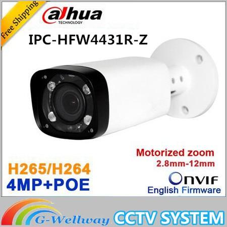 D'origine DH H.265 IPC-HFW4431R-Z 2.8-12mm À Focale Variable Objectif Motorisé Réseau 4MP IR 80 m IP caméra POE Livraison gratuite
