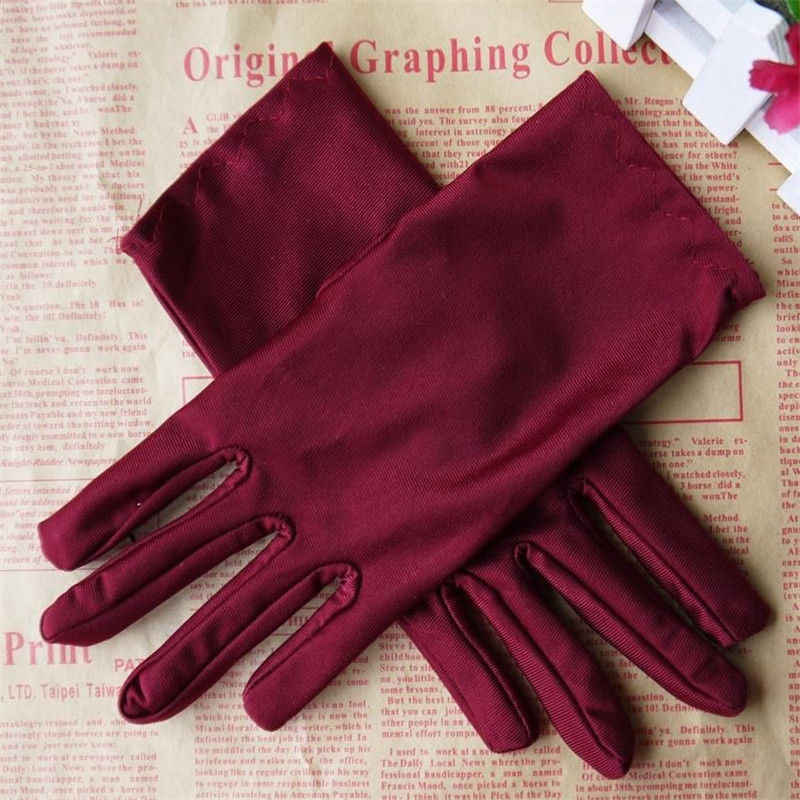 Fashion Stretch Satin Gloves for Women Evening Party Formal Prom Stretch Gloves Women Wrist Gloves Wholesale