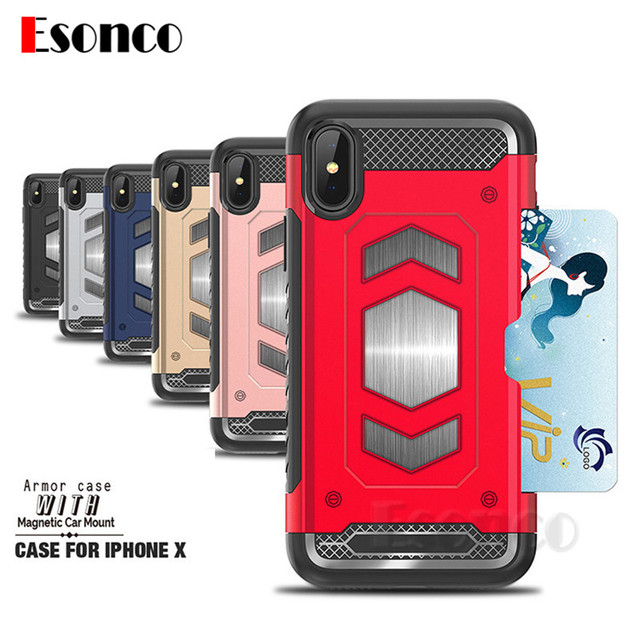 iphone 7 case shockproof card holder
