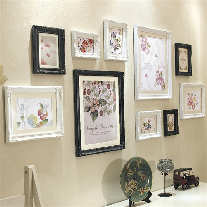 2015 New Beautiful Wall Picture Frames Set,10*12 Vintage Photo ...