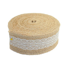 10 Meter Party Supplies Wedding Burlap Ribbon Natural Jute Roll Party Cake Decoration Christmas Tree Decorations New BITFLY(China)