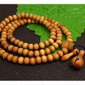 8mm Tibetan Buddhism 108 Peach wood Prayer Bead Mala Necklace