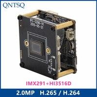 Sony IP Camera 2.0MP H.265/H.264 IP Camera,Sony IMX291/IMX+HI3516D CMOS IP Camera Module,Pitch 22mm IP PCB board ONVIF CY IP1691