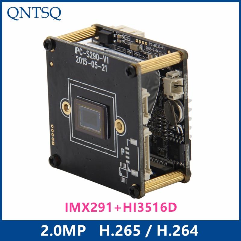 Caméra IP Sony 2.0MP H.265/H.264, Module de caméra IP CMOS Sony IMX291/IMX + HI3516D, carte de circuit imprimé IP pas 22mm ONVIF CY-IP1691