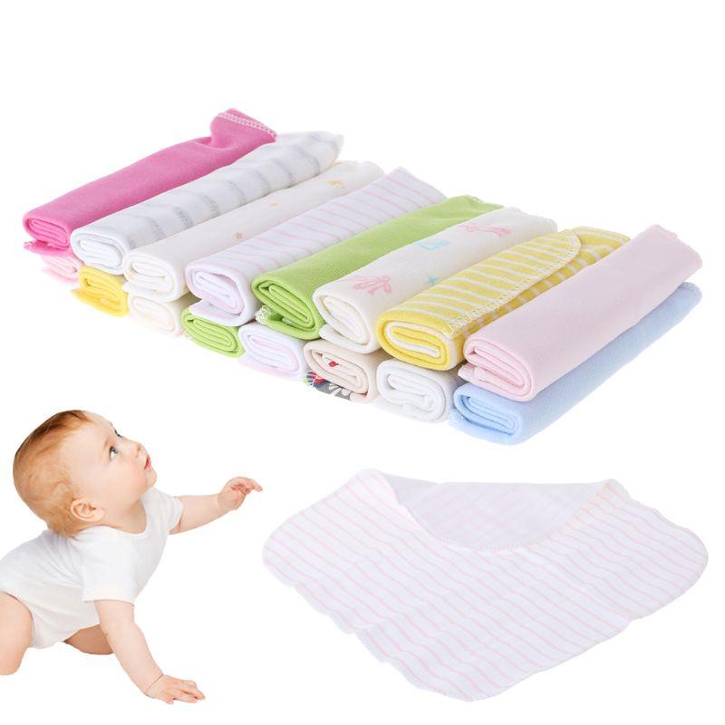 Newest 8Pcs Soft Baby Kids Newborn Bath Nursing Dry Towel Washcloth Colorful Hot