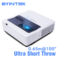 BYINTEK CLOUD K8 Ultra Short Throw Holographic 3LCD Video Full HD 1080P LED Projector for Daytime Home Education Business
