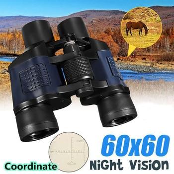 Binoculares de alta claridad con Zoom de 60x60 pulgadas, HD, para caza, Campamento, viaje, telescopio, visión nocturna, binoculares con las medidas de 3000M.