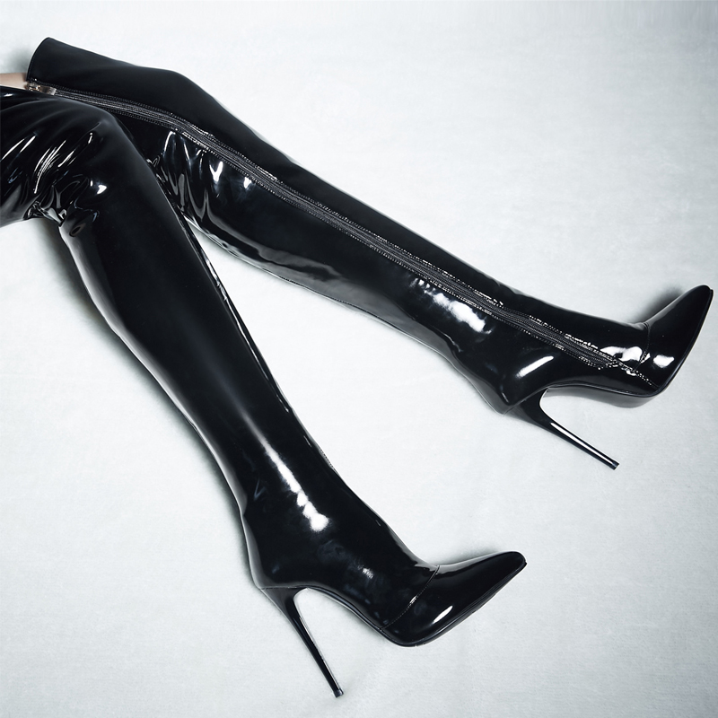 Online Buy Wholesale patent leather thigh high boots from China ...