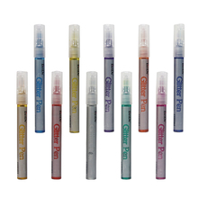 Glitter Paint Pens for Rock Painting, Scrapbook Journals, Photo Albums, Card Stocks, Paper Project, Coloring
