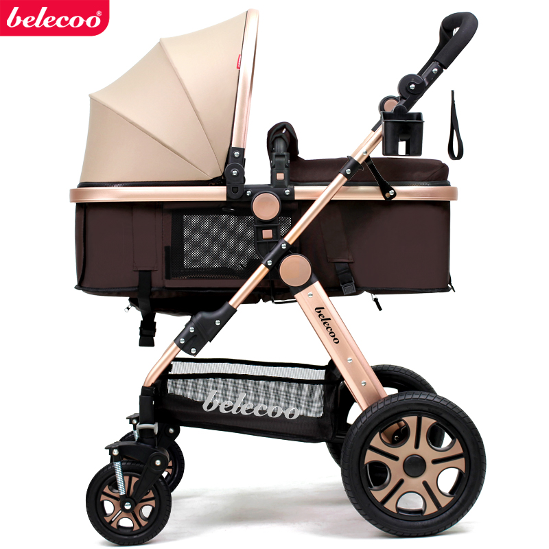 Car Seat Stroller Combo | Belecoo Baby Stroller In Summer Seat Lay Light Folding Baby Infant Car Shock High Landscape