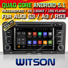 WITSON Quad Core Android 5.1 CAR RADIO for AUDI A3 S3 RS3 2003-2012 GPS SAT NAVI+CAPACTIVE SCREEN+DVR/WIFI/3G+DSP+RDS+16GB flash