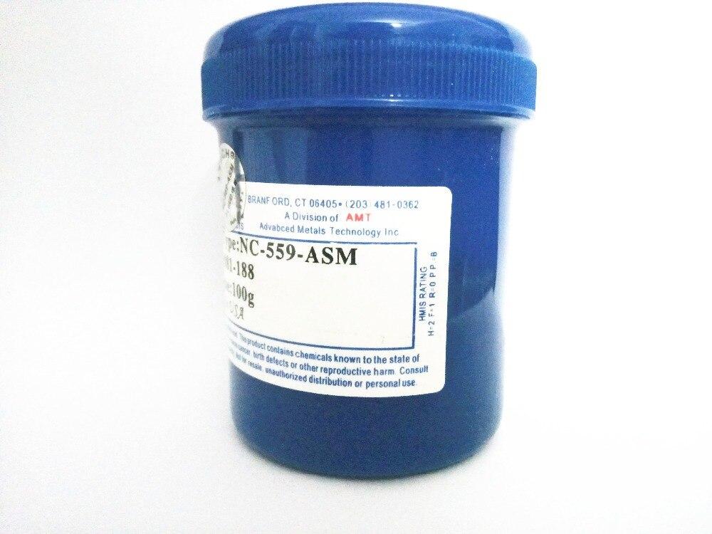 Envío Gratis NC-559-ASM 100g soldadura libre de plomo pasta de flujo para SMT reboleo de BGA soldadura reparación No limpia