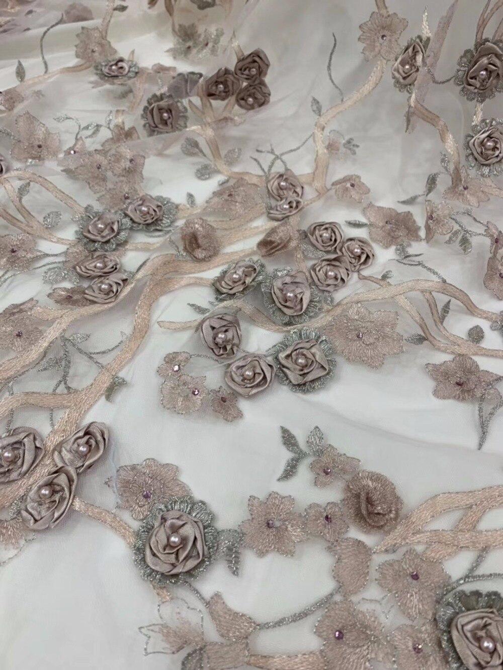 Goede Kopen Goedkoop 1 YARD Upscale Hand made Bead 3D Bloemen CE-94