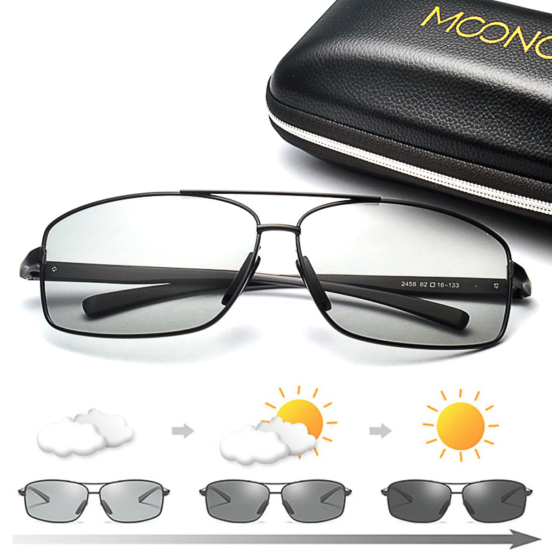 Image 3 - MOONCCI Photochromic Sunglasses Men Polarized Aluminum Chameleon Glasses HD Driving Shades Sun Glasses Male oculos gafas lentes-in Men's Sunglasses from Apparel Accessories on AliExpress