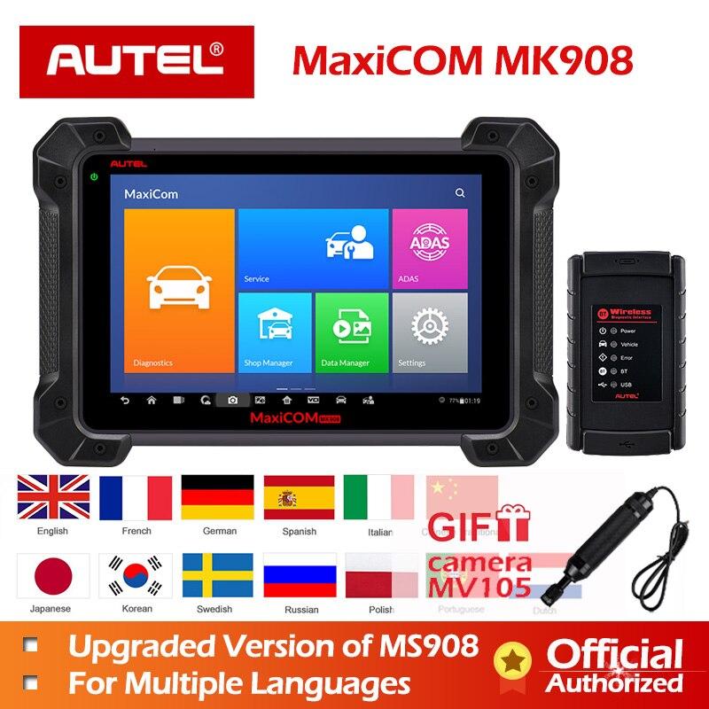Ferramenta de Diagnóstico Autel MaxiSys MS908 MaxiCOM MK908 OBD2 Scanner melhor do que MaxiSys Pro Elite Nova chegada após MS908 Codificação ECU