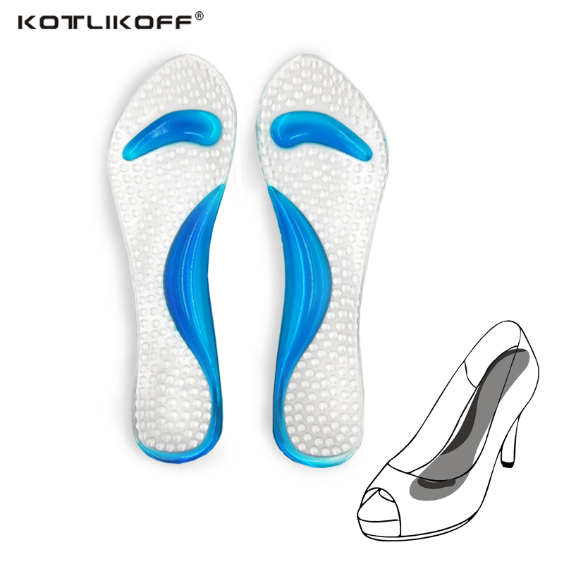 KOTLIKOFF 2 Piar NEW 2017 Non-Slip Sandals High Heel Arch Cushion Support Silicone Gel Pads Shoes Insoles shoes accessories new arrivals hot non slip sandals high heel arch cushion support silicone gel pads shoes