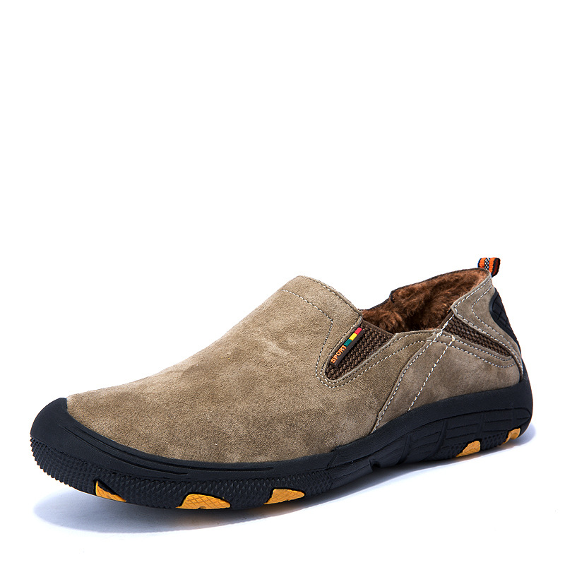 ФОТО The New Autumn And Winter Men's Shoes With Velvet Warm Shoes Male Shoes Outdoor Mountaineering Leisure British Leather Shoes
