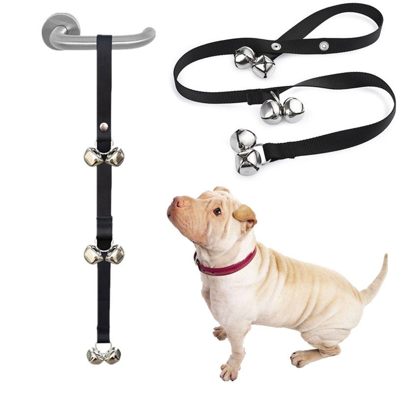 Dog Doorbells for Dog Training and Housebreaking Clicker Door Bell Pet Behavior Guide Housetraining Wholesale 30JE28