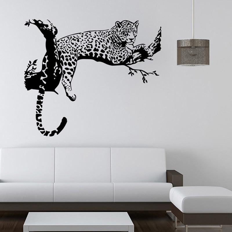 comprar tigre en el rbol pegatinas de pared para kids room living pared removible de vinilo diy pegatinas arte tatuajes de pared poster