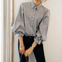 Cotton Three Quarter Sleeve Blouse 2016 Spring Style Korea Cute Fashion Bowknot Loose Slim Casual Stripe