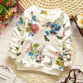 (1piece /lot) 100% cotton 2017 white  sweet flower  baby outerwear 1-3year old