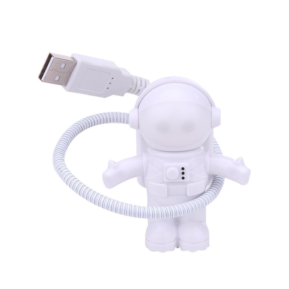 Творческий Астронавт USB LED свет лампы для ноутбука Настольный компьютер Портативный чтения бюро свет