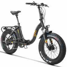 20 дюймов электрический велосипед, толстый Снежный велосипед 4,0 шины, пляжный Электрический велосипед 48 в 500 Вт складной электрический Снежный велосипед, внедорожный широкий велосипед