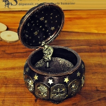 Twelve constellations music box birthday wedding Christmas and new year gift for antique male honey free shipping