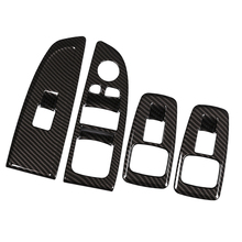 4X Carbon fiber vinyl ABS Window regulator frame covers for BMW 7 series 730 740 750 Accessories Car Styling