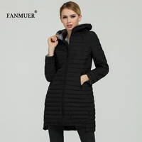 FANMUER 2017 NEW fashion winter coat womens clothing women quilted jacket coates parkas woman parka autumn hood jacket plus size