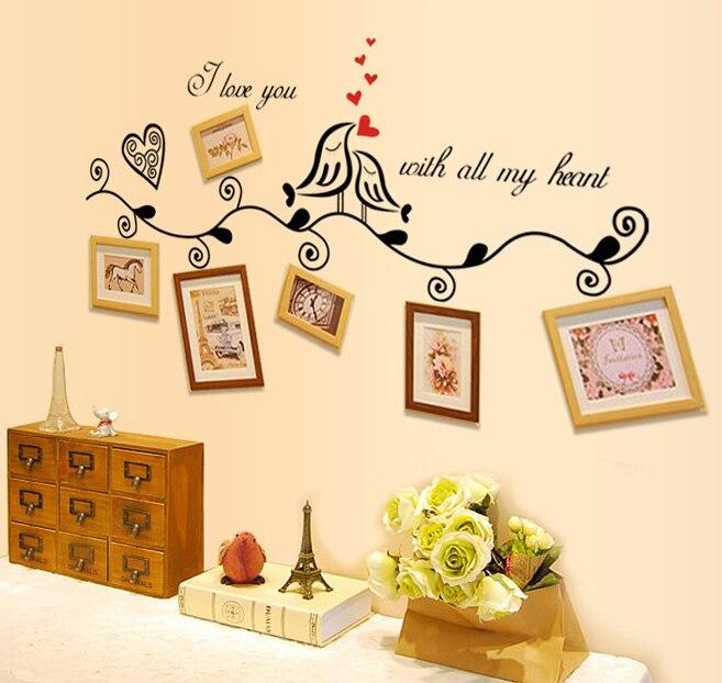 Family Tree Murals For Walls aliexpress : buy vinyl photo frame family tree wall sticker