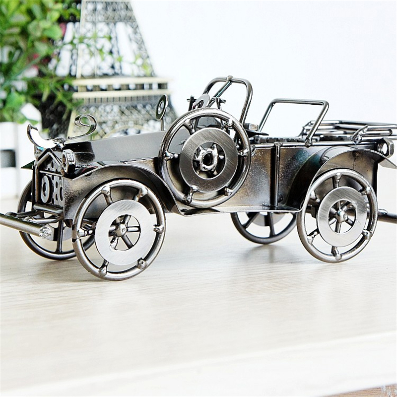 Amazing Metal Painting Retro Old Car Classic Vehicle Model Creative Table Decoration Cre ...