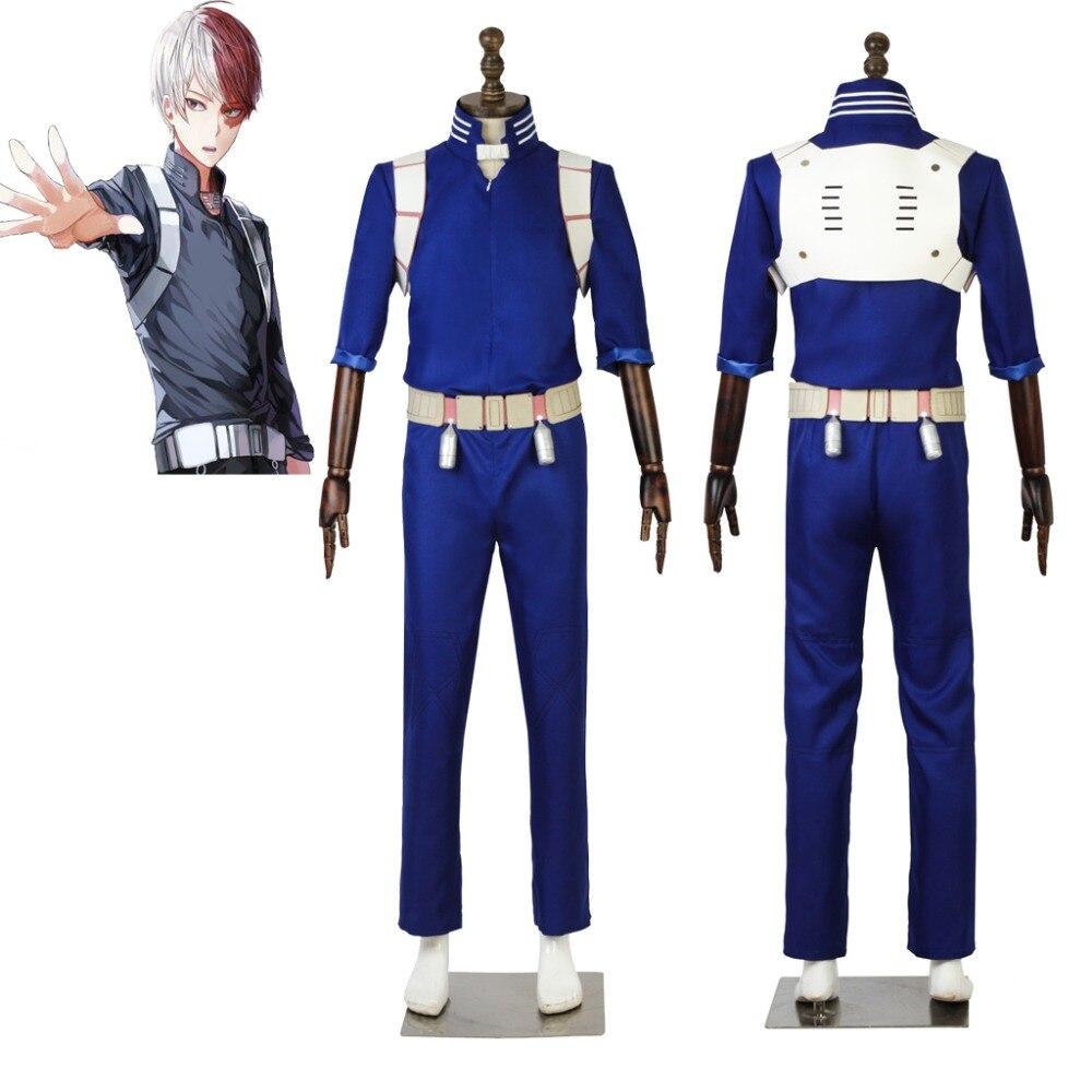 Cosplaydiy My Hero Academia Todoroki Shoto Cosplay Costume Anime Todoroki Shoto Fighting JumpSuit Backpack Costume L320