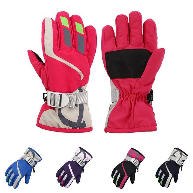 c8efe4123 ... Baby Kids Mittens Winter Snow Gloves for Children Newborns Waterproof  Windproof Warm Snowboard Gloves Girls Boys ...