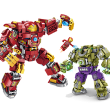 Marvel Avengers 4 Infinity War End Game Iron Man Thanos Hulk Blocks Toys Compatible Space Figures Super Heroes