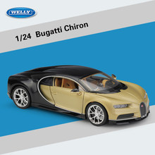 1:24 Scale Welly Bugatti Chiron Diecast Alloy Car Model Toy For Kids Toys Gifts Collection Free Shipping(China)