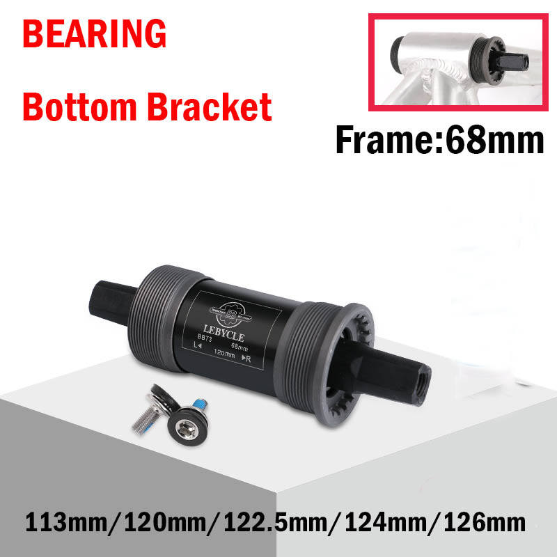Bike BSA Bottom Bracket 113mm 120mm 122.5 124mm 126mm Quare Hole Crank Axis bicycle parts for Square Tapered Spindle Crankset Bottom Brackets     - title=
