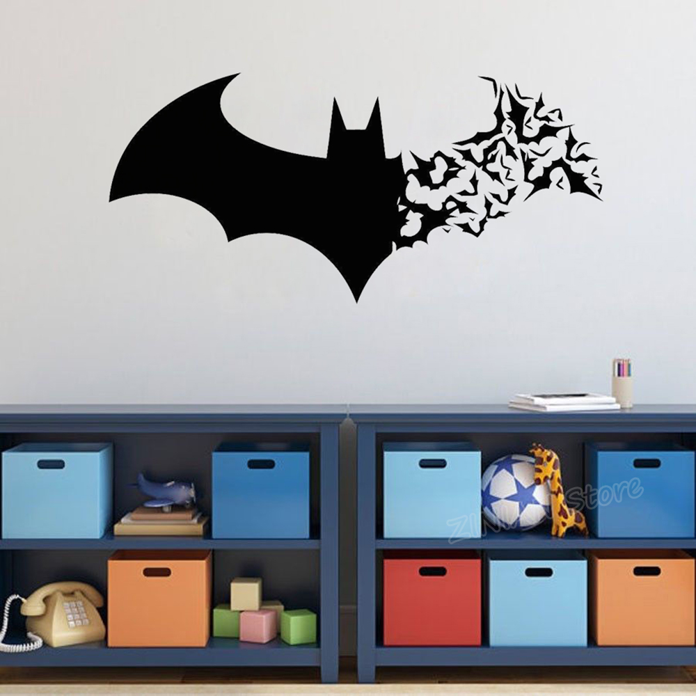 Magnificent Us 4 79 28 Off Batman Quote Wall Stickers For Kids Rooms Superman Silhouette Vinyl Wall Decal Wallpaper Boys Room Home Decoration Mural D098 In Wall Download Free Architecture Designs Scobabritishbridgeorg