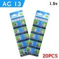 11.11 Sale AG13 Environmental Protection 100% Original LR44 LR1154 SR44 A76 357A 303 357 Alkaline Coin Cell Button Battery 20pcs